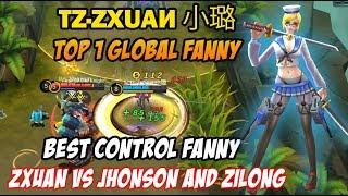 Zxuan Top 1 Fanny Best Player tz·zχuαи 小璐 vs Jhonson and Zilong
