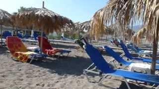 Strand van Cavo Christo Petra Griekenland. Strandvakantie. Beach of Petra Lesbos Greece.