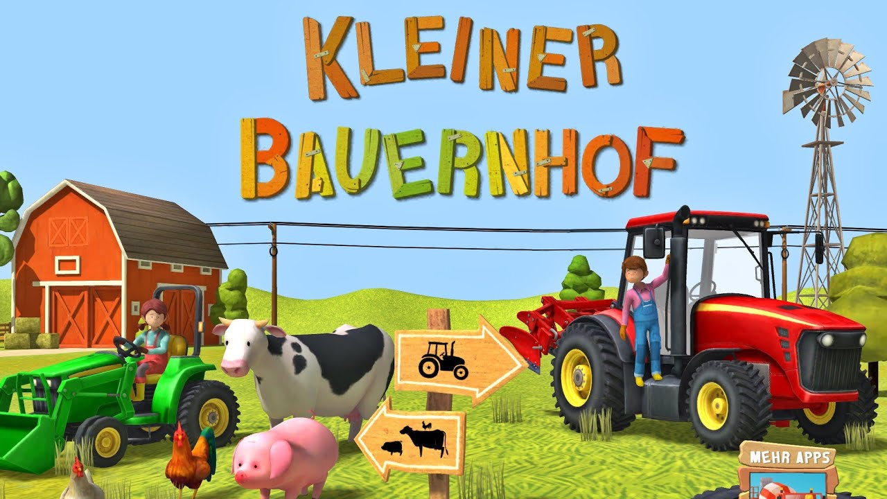 Animal Farm Wallpaper Kleiner Bauernhof Traktor M 228 Hdrescher Amp Tiere App F 252 R