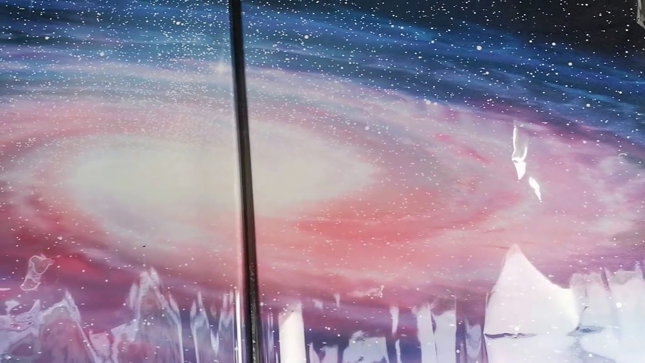 Following a Milky Way Galaxy Painting Tutorial