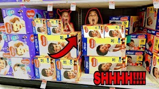 BEST HIDE AND SEEK SPOT IN TARGET!! | Familia Diamond