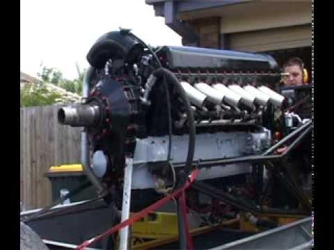 rolls royce merlin aircraft engine  v12 test