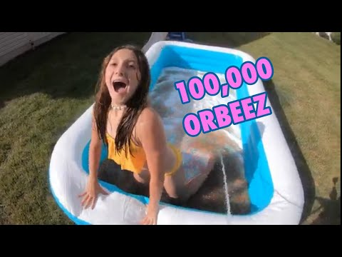 100,000 ORBEEZ IN THE POOL!!