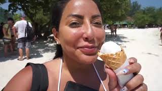 Kiara Mia eating ICE cream like a blow job