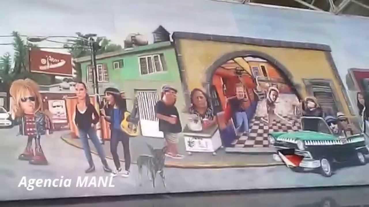 Mural da ado en estaci n del metro chabacano youtube for Mural metro u de chile