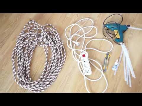 Как приклеить декоративный шнур к натяжному потолку видео