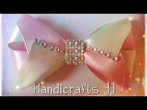 Como Hacer Moños De Listón Bicolor Paso A Paso Moño De Listón Fácil De Hacer Easy Ribbon Bow