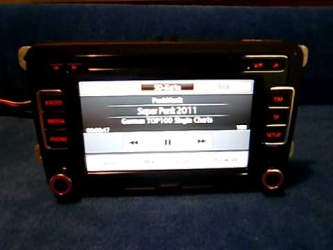vw rcd 510 radio autoradio carradio car 3c8035190c. Black Bedroom Furniture Sets. Home Design Ideas