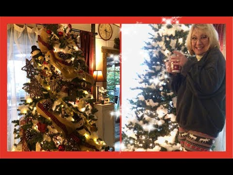 ~ DECORATE MY CHRISTMAS TREE WITH ME 2018 -Cabin •Farmhouse Christmas Tree~