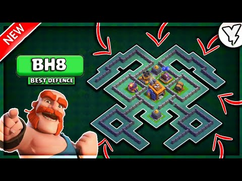 MOST EPIC BH8 BASE *NOT CLICKBAIT* | BEST BUILDER HALL 8 BASE 7000+ TOPHIES TESTED✔✔  | NEW 2018