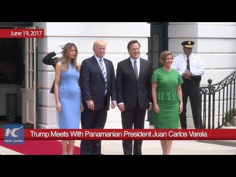 Trump Meets With Panamanian President Juan Carlos Varela