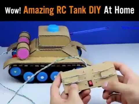 membuat tank dari kardus bekas
