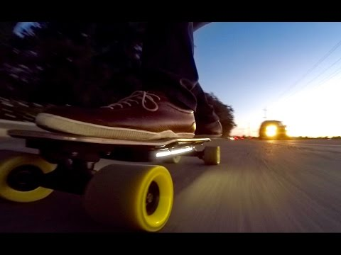 Electric Skateboard Meets the Sunset / 夕暮れとスケボー
