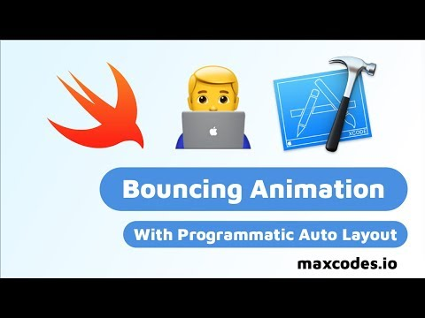Bouncing Auto Layout Animation - Xcode Tutorial thumbnail