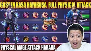 GOSSEN BUILD HAYABUSA FULL PHYSCIAL ATTACK  GINI JADINYA - MOBILE LEGEND BANG BANG