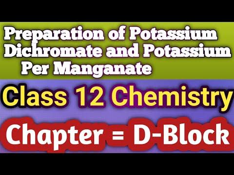 Preparation Of Potassium DiChromate and Preparation of Potassium Per Manganate In ( HINDI ) .