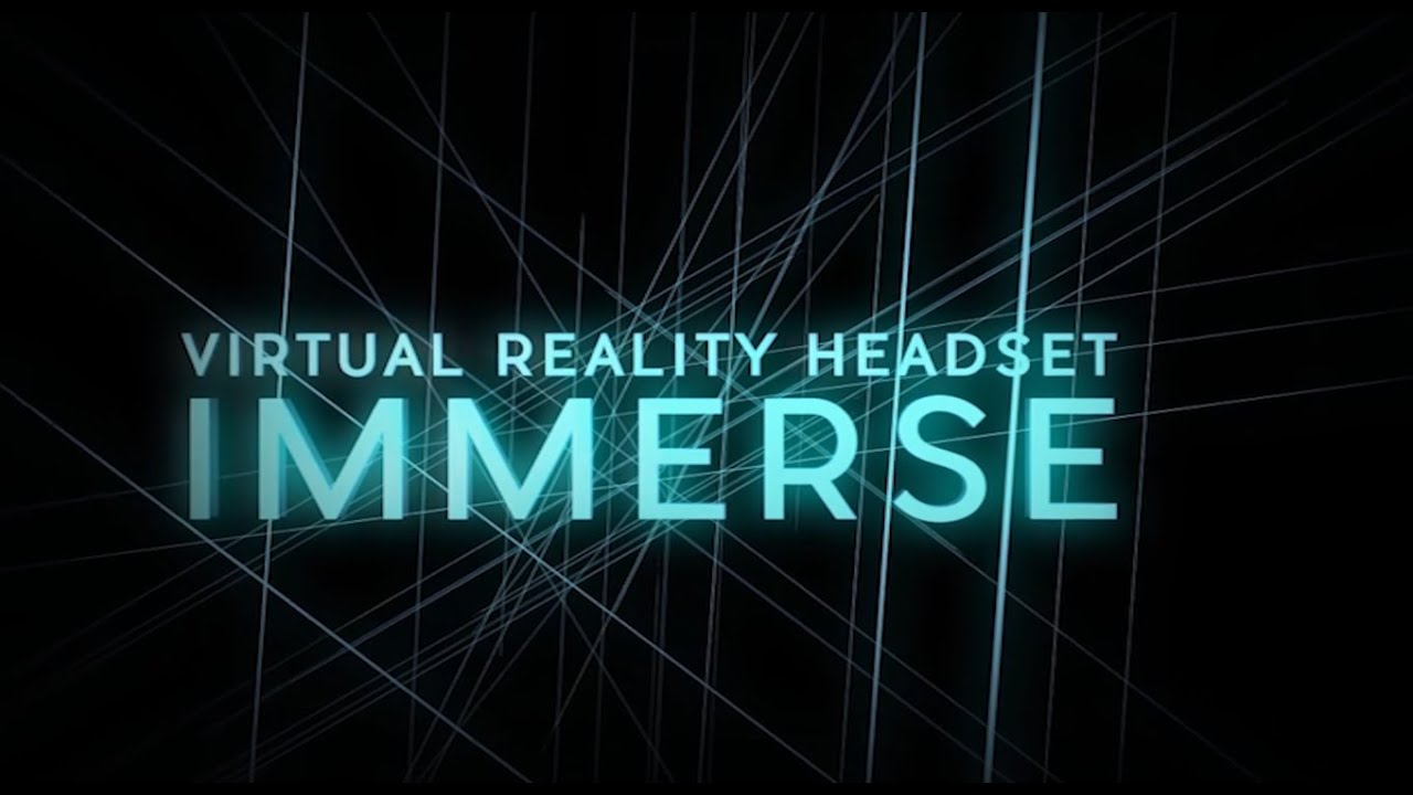 Immerse Virtual Reality Headset- Immerse yourself in virtual