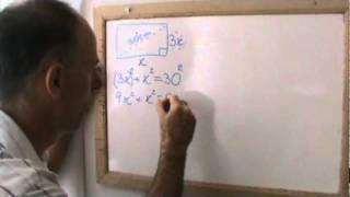Teorema de Pitagoras para cálculo de área de retângulo.MPG