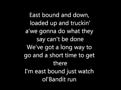 Jerry Reed- East Bound and Down (Lyrics)