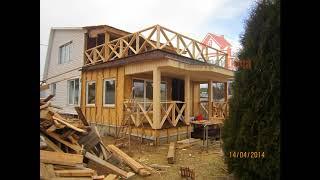 видео Брусовой дом с крыльцом и балконом