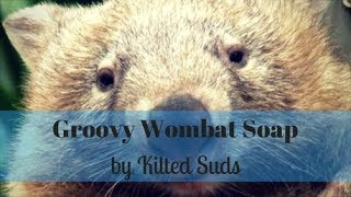The Making of Groovy Wombat Soap by Kilted Suds - Cold Process Soap Making - Drop Swirl