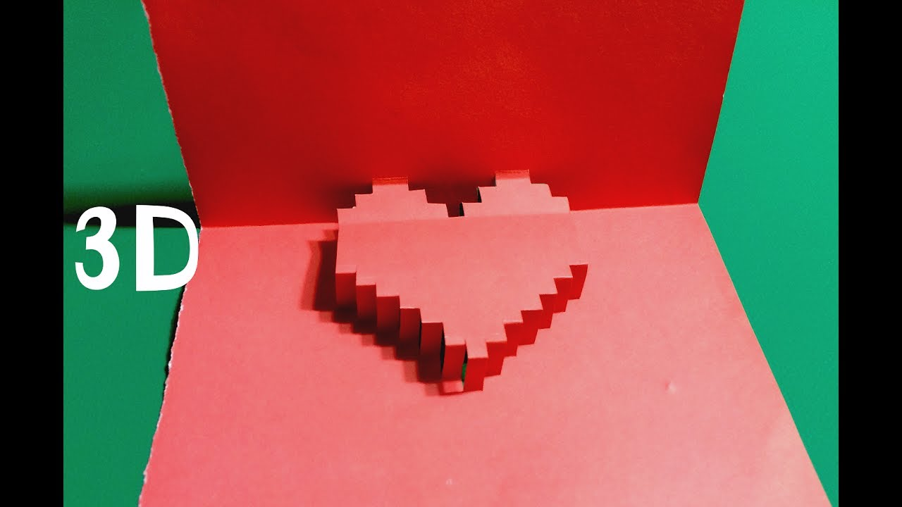 origami 3d pop up love card full instruction how to make a