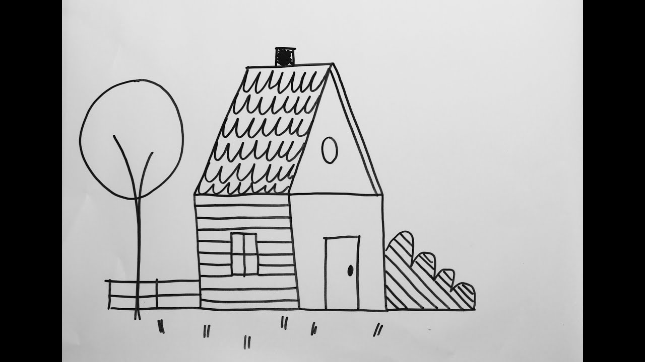 Easy drawing activity how to draw a house youtube for Draw your house