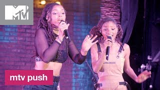 Chloe x Halle Perform 'Happy Without Me' (Live Performance) | MTV Push