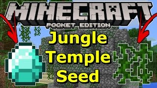 Minecraft PE 0.17.0 / 1.0 / 1.0.7 Jungle Temple At Spawn Seed Review- With Diamonds?!