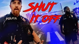 COOL OR ANGRY COP? BIKER GETS SHUT DOWN BY POLICE!
