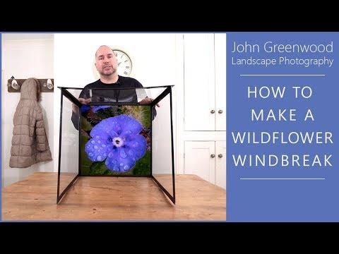 How to make a Wildflower Windbreak / Wind box | Flower Photography