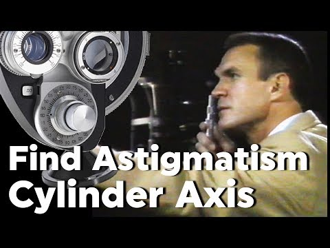 Astigmatism Axis Determination Cylinder With Retinoscopy Refraction With Phoropter Plus Cylinder