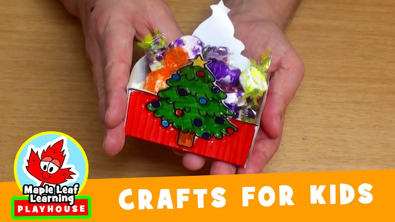 Christmas Basket Craft for Kids | Maple Leaf Learning ...