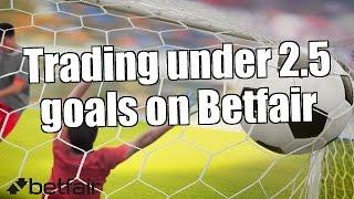 Trading under 2.5 goals on Betfair - Europa league football