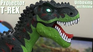 Dinosaur Toys: Tyrannosaurus Rex Projector and Roaring Room Guard Alarm Unboxing