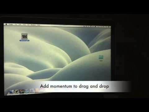 New Apple Trackpad Drag & Drop Trick