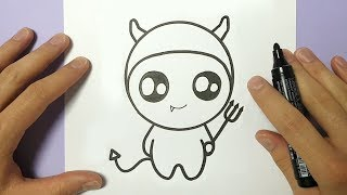 HOW TO DRAW CUTE HALLOWEEN DEVIL