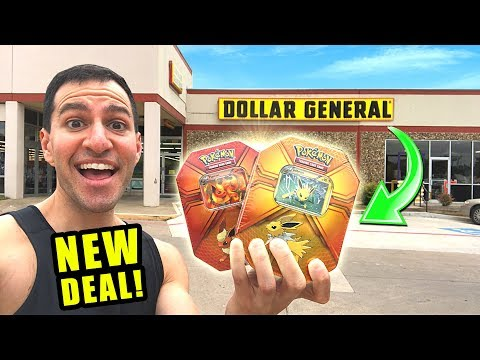 *DOLLAR GENERAL HAS CHEAP POKEMON CARDS!* Opening NEW EEVEE Tins From The Store!