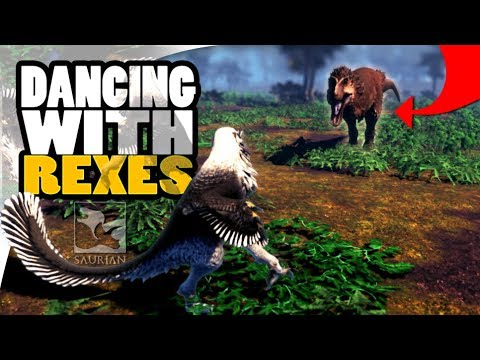 Saurian - NEW ROARS & THREATENING ADVANCED AI IS INCREDIBLE, KILLING A TRIKE AND FIGHTING THE REX!