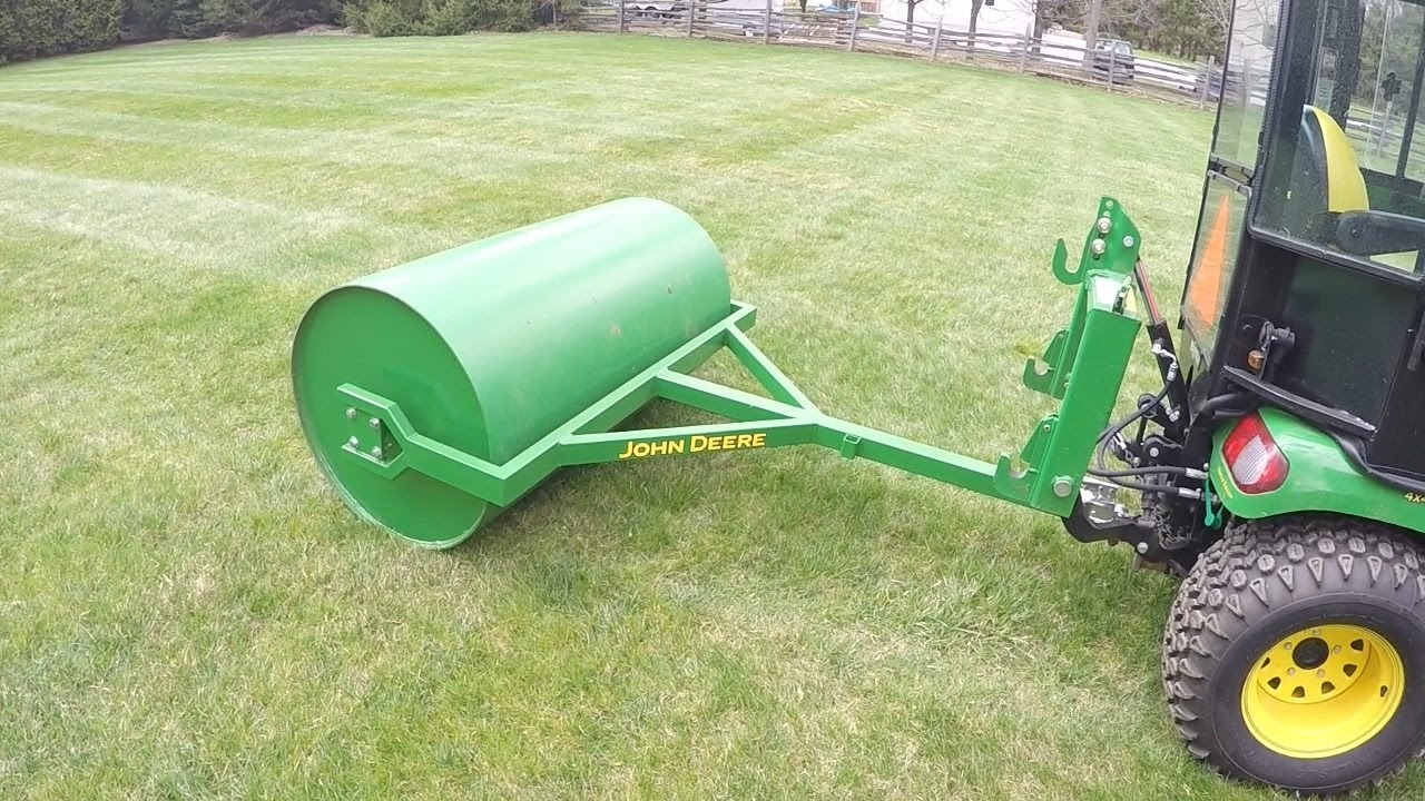 John Deere X748 Custom Built Lawn Roller Rolling The Lawn 20150502 Youtube