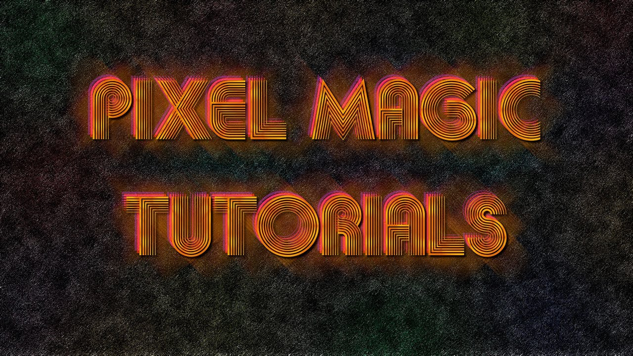 70s Disco Gold Text Photoshop Tutorial