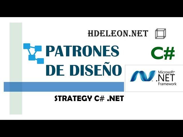 Strategy en C# .Net   Patrones de diseño   design patterns   #5