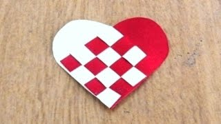 Woven Paper Heart Tutorial ~ How to Make Valentine Weaving Paper Heart ~ DIY ~ Instructions .....