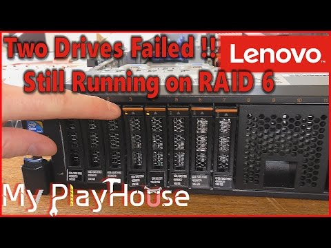 Lenovo X3650 M3 With Two Failed Drives In RAID 6 - 500