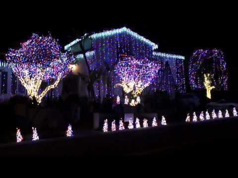 Christmas Lights To Rudolph Music - - - 2010 Nellie Gail Ranch Winner Best House