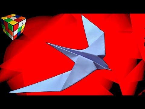 Как сделать ЛАСТОЧКУ из бумаги. Ласточка оригами своими руками. Поделки из бумаги