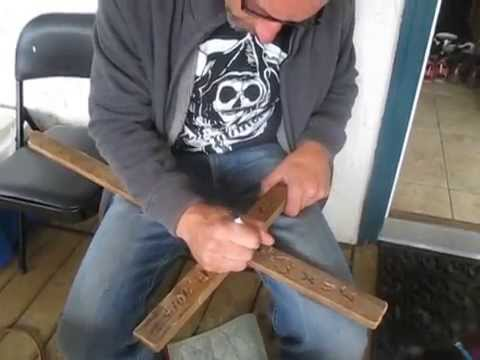 Making A Grave Cross