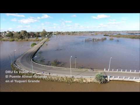 Inundación en Concordia  Puente Alvear