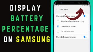 How to Display Battery Percent…