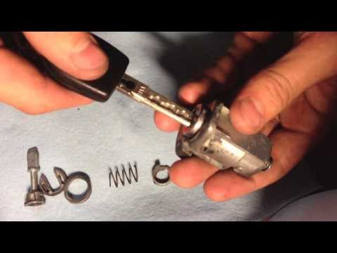 03 vw golf lock cylinder housing disassembly and assembly tutorial.